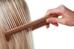 långt hårkamhår arkivbild