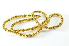 långt halsband för guld Royaltyfria Foton