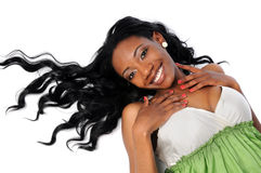 långt kvinnabarn för hår Fotografering för Bildbyråer