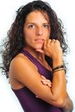 långt model sexigt för lockigt hår Royaltyfria Bilder