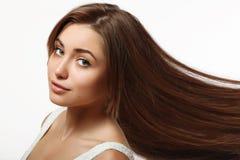 Långt och naturligt hår Royaltyfria Bilder
