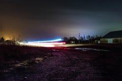 Långt skott för exponeringsljusslinga arkivbilder