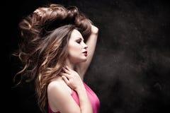 Långt sunt hår fotografering för bildbyråer