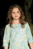 långt wavy barn för blont flickahår Royaltyfri Fotografi