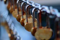 Lås av hjärtor Fotografering för Bildbyråer