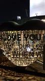 Lås för Namsan tornförälskelse arkivbilder