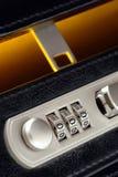 lås för portföljaffärskombination Royaltyfria Foton
