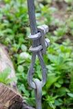 Lås för skruv för trådrep tungt klämma fast Royaltyfri Foto
