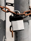 Lås- och kedjesäkerhet Arkivfoton