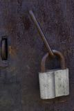 Lås på dörren Arkivbild