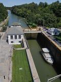 Lås på den Erie kanalen Royaltyfri Foto