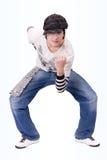 låsa för flygtur för höft för pojkedansdans som är tonårs- Arkivbilder