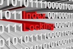 Låsa för index Fotografering för Bildbyråer