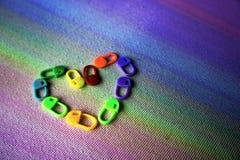 Låsa häftklammermarkörer: Mång--färg Arkivfoton