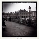 Låsbro i Paris Arkivfoto