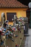 Låser av förälskelse i Prague Royaltyfria Bilder
