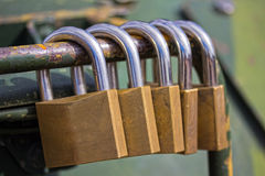 låser säkerhet Royaltyfri Fotografi