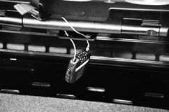 Låset med en tangent Royaltyfri Fotografi