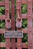 Låset på fängelseporten Royaltyfria Foton