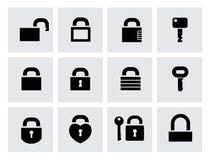 Låssymboler Arkivfoto