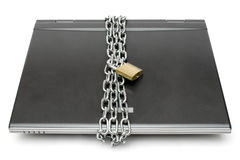 låst bärbar dator Royaltyfri Bild