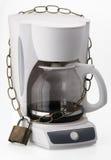 låst coffeemaker royaltyfria bilder
