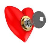 låst hjärta Royaltyfri Foto