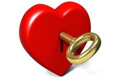 låst hjärta Arkivbild
