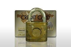 Låst kreditkort royaltyfria bilder