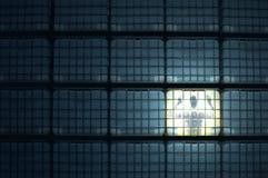 låst kub Arkivbild