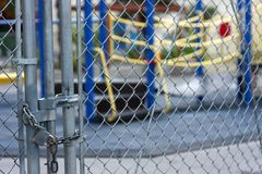 låst lekplats Royaltyfri Foto