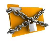 låst mapp Arkivbild