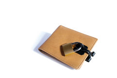 Låst plånbok Royaltyfri Foto
