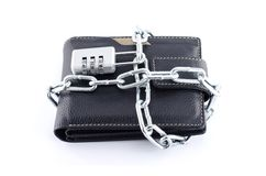 Låst plånbok Royaltyfria Foton