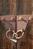 låst port Royaltyfria Bilder