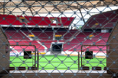 låst stadion Arkivbild