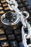 låst tangentbord Royaltyfri Fotografi
