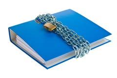 låsta mappar för chain mapp Royaltyfri Fotografi