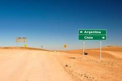 Låt oss gå Argentina! Oj lät Nevermind, oss går Chile! Arkivbild