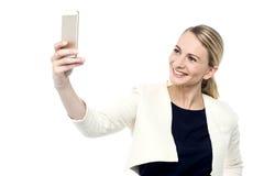 Låt oss ta en selfie! Royaltyfri Foto