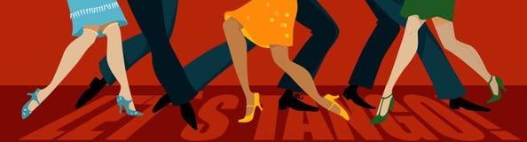 låt s-tango royaltyfri illustrationer