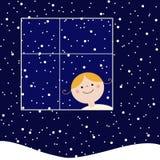 låt snow royaltyfri illustrationer