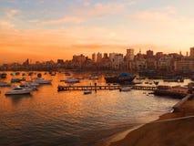 Låt solen ställa in och värma havet Royaltyfri Foto