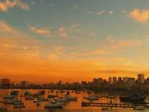 Låt solen ställa in och värma havet Royaltyfri Fotografi