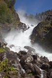 Låtefossen Wasserfall Lizenzfreies Stockfoto