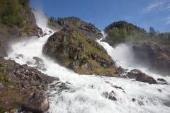 Låtefossen Wasserfall Stockfoto
