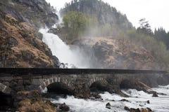 Låtefossen Wasserfall Lizenzfreie Stockfotografie