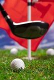 Låter lek en runda av golf! Arkivbild