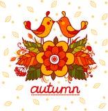låter vara den färgrika designen för hösten kranen Royaltyfri Bild