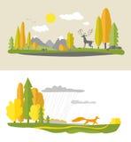 låter vara den färgrika designen för hösten kranen Arkivfoto